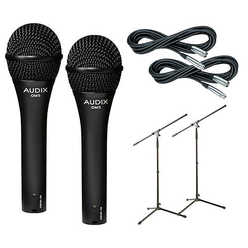 Audix OM-5 Mic with Cable and Stand 2 Pack