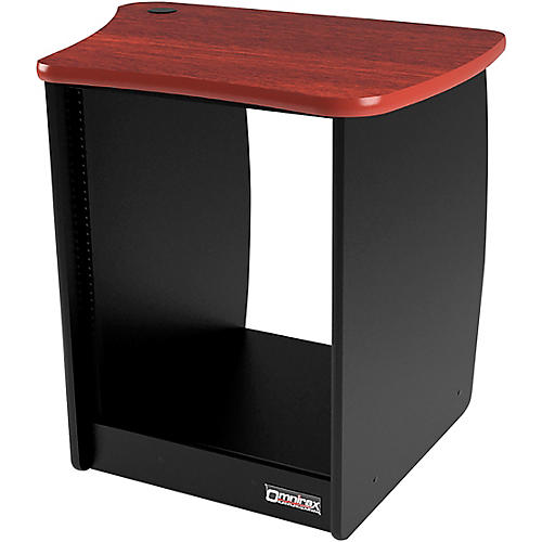 Omnirax OM13R 13-Space Rack Cabinet for the Right Side of the OmniDesk - Mahogany-thumbnail