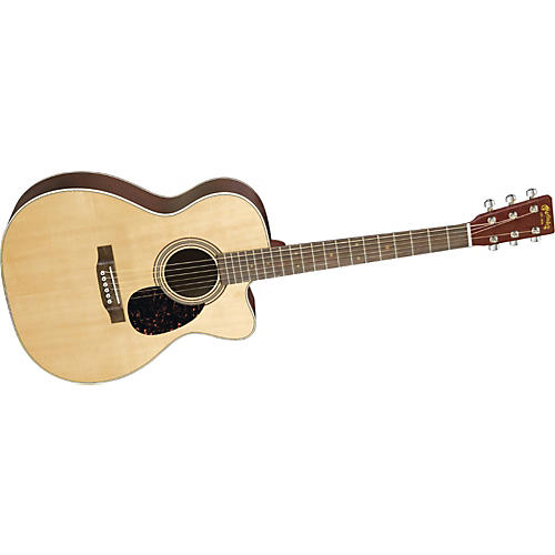 Martin OMCGTE Cherry 000 Cutaway Acoustic Guitar Natural