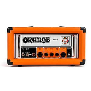 Click here to buy Orange Amplifiers OR Series OR15H 15 Watt Compact Tube Guitar Amp Head.