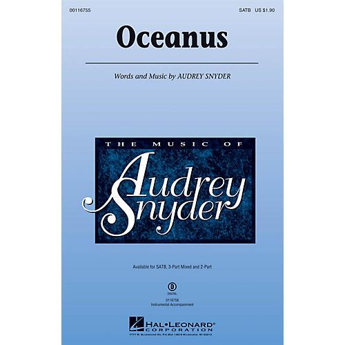 Hal Leonard Oceanus SATB composed by Audrey Snyder