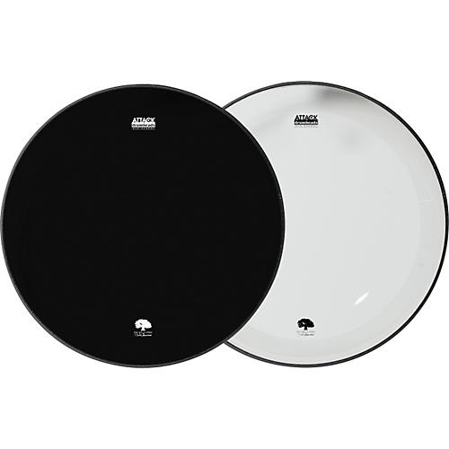 attack ocheltree no overtone bass drumhead pack clear black 24 guitar center. Black Bedroom Furniture Sets. Home Design Ideas