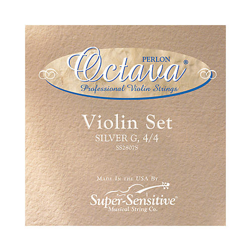 Super Sensitive Octava Violin Strings E, Medium, Wound 3/4 Size