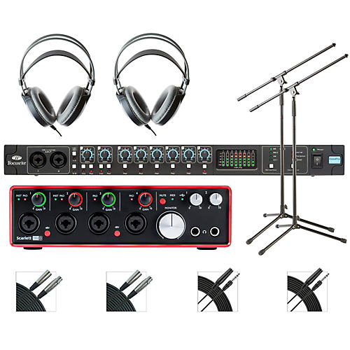 Focusrite OctoPre and 18i8 Recording Bundle with AKG M80mkII Headphones-thumbnail