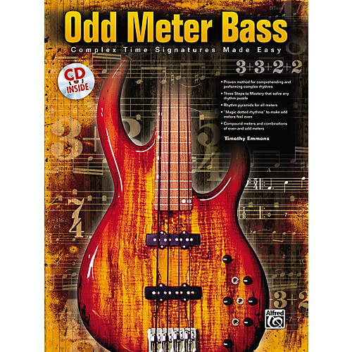 Alfred Odd Meter Bass: Complex Time Signatures Made Easy - By Tim Emmons (Book/CD)-thumbnail
