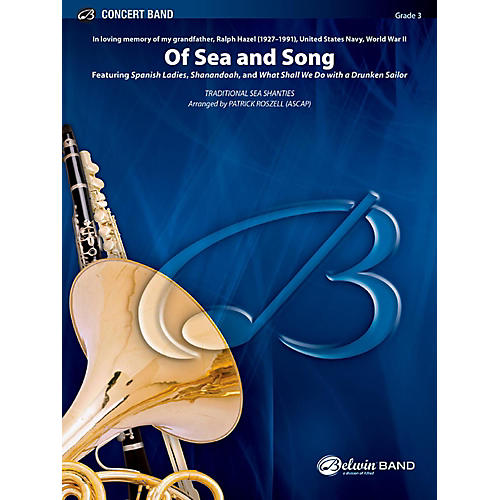 BELWIN Of Sea and Song Concert Band Grade 3 (Medium Easy)