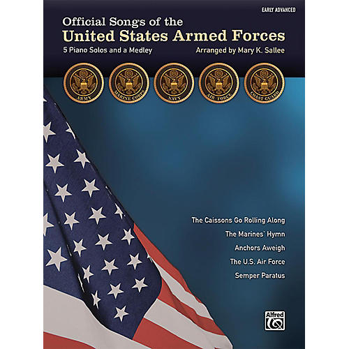 Alfred Official Songs of the United States Armed Forces Early Advanced Piano Solos with Lyrics-thumbnail