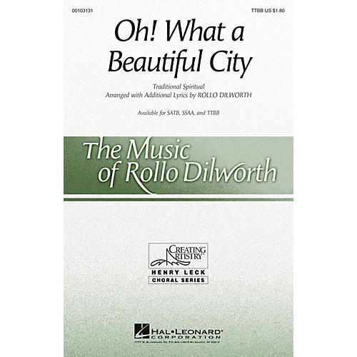 Hal Leonard Oh! What a Beautiful City TTBB arranged by Rollo Dilworth