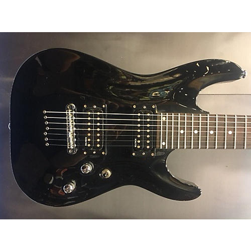 Schecter Guitar Research Omen 7 Solid Body Electric Guitar Black