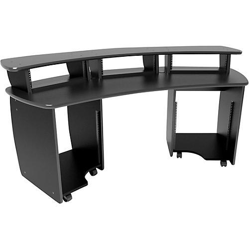 Omnirax OmniDesk Audio/Video Editing Workstation - Black-thumbnail