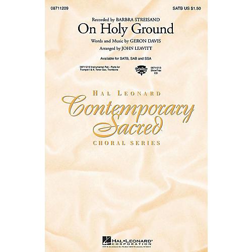 Hal Leonard On Holy Ground ShowTrax CD by Barbra Streisand Arranged by John Leavitt