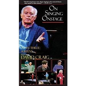 Applause Books On Singing Onstage with David Craig Class Three: Subtext A...