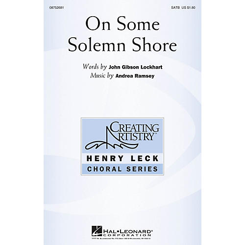 Hal Leonard On Some Solemn Shore SATB composed by Andrea Ramsey