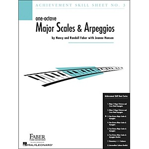 Faber Piano Adventures One-Octave Major Scales and Arpeggios Skill Sheet No... by Faber Piano Adventures