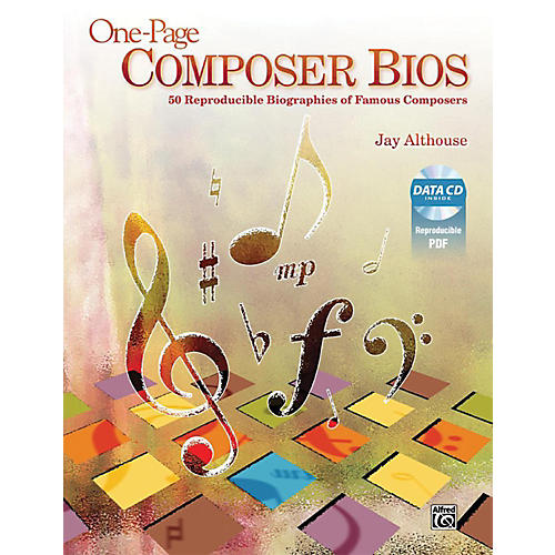 Alfred One-Page Composer Bios Book & Data CD-thumbnail