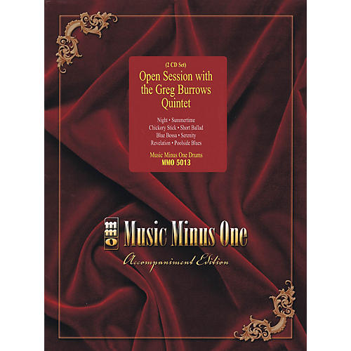 Music Minus One Open Session with the Greg Burrows Quintet Music Minus One Series Softcover with CD by Greg Burrows