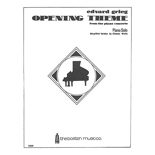 Music Sales Opening Theme From The 1st Movement Of The Piano Concerto (Simplified) Music Sales America Series