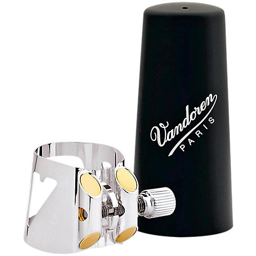 Vandoren Optimum Clarinet Ligatures Alto Clarinet - Silver-Plated with Plastic Cap