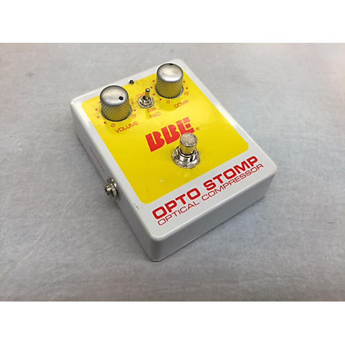 BBE Opto Stomp GREY AND YELLOW Effect Pedal