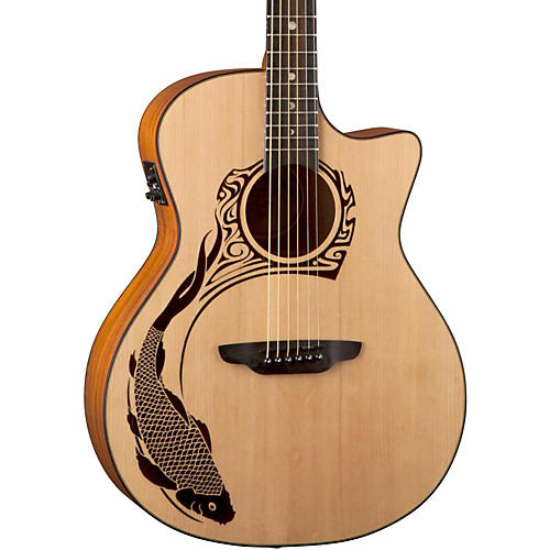 Luna Guitars Oracle Koi 2 Acoustic-Electric Guitar