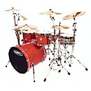 Orange County Drum & Percussion 4-Piece Venice Trans Cherry Wood Shell Pack (OCV4022CW)