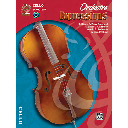 Alfred Orchestra Expressions Book Two Student Edition Cello Book & CD 1-thumbnail