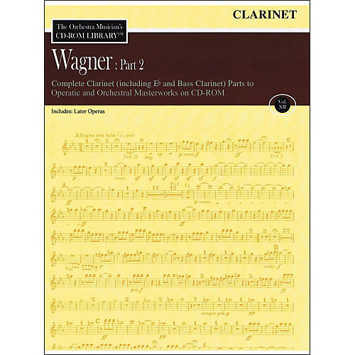 Hal Leonard Orchestra Musician's CD-Rom Library Vol 12 Wagner Part 2 Clarinet-thumbnail