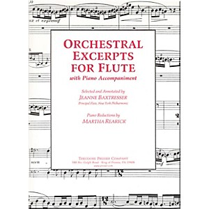 Carl Fischer Orchestral Excerpts For Flute by Carl Fischer