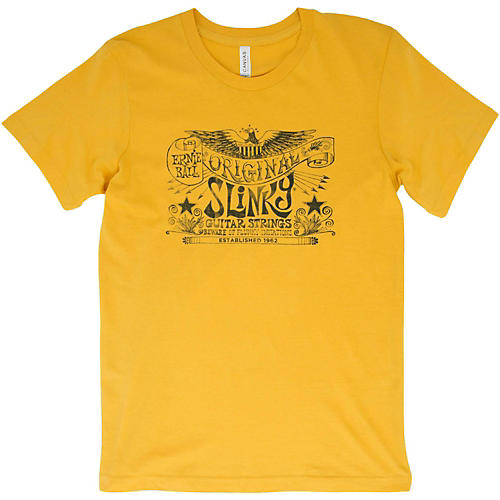 Ernie Ball Original Slinky Maize Yellow T-Shirt-thumbnail