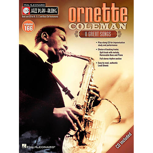 Hal Leonard Ornette Coleman - Jazz Play-Along Volume 166 Book/CD-thumbnail
