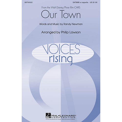 Hal Leonard Our Town (from Cars) SATBBB a cappella arranged by Philip Lawson