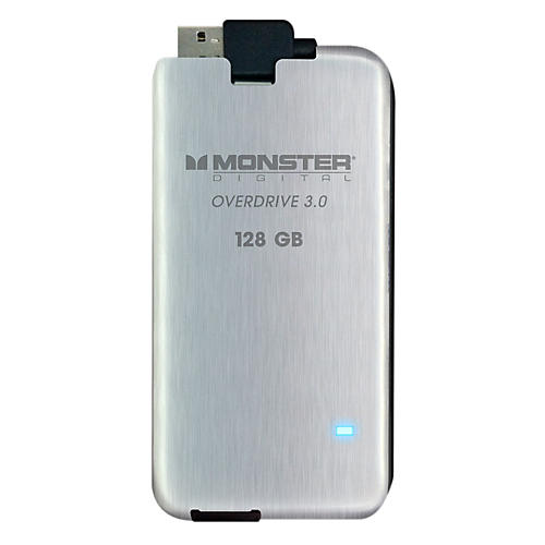 Monster Overdrive 3.0 SSD 128GB USB3.0, 250MB/s Brushed Stainless Steel