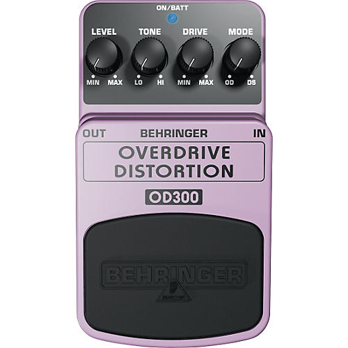 Behringer Overdrive/Distortion OD300 Guitar Effects Pedal-thumbnail