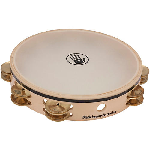 Black Swamp Percussion Overture Series 10in Tambourine Double Row with Remo head-thumbnail