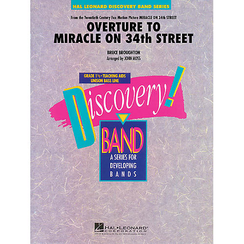 Hal Leonard Overture to Miracle on 34th Street Concert Band Level 1.5 Arranged by John Moss