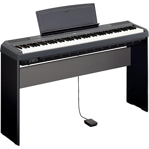 yamaha p 115 88 key weighted action digital piano with l85 wood keyboard stand guitar center. Black Bedroom Furniture Sets. Home Design Ideas