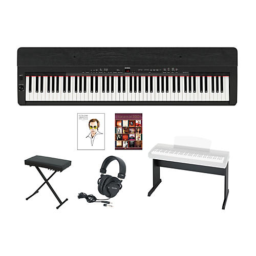 Yamaha P-155 Black Keyboard Package w/Matching Stand