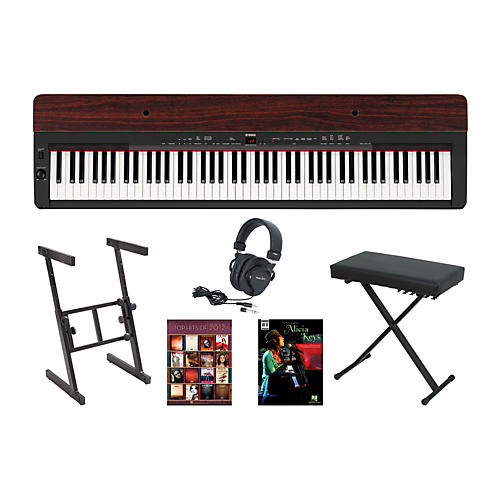 Yamaha P-155 Rosewood Keyboard Package 1