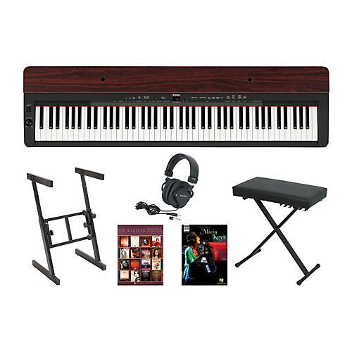 Yamaha P-155 Rosewood Keyboard Package 1-thumbnail