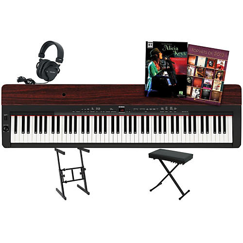 Yamaha P-155 Rosewood Keyboard Package 1