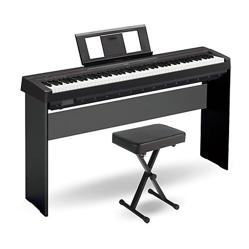 yamaha 88 key digital piano. yamaha p-45 88-key weighted action digital piano black with wood stand and 88 key h