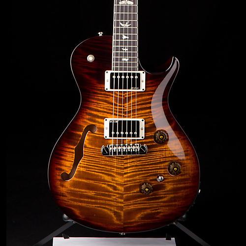 PRS P245 Semi-Hollow Electric Guitar Black Gold Burst