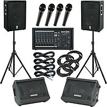 Gear One PA2400 / Yamaha A15 Mains and Monitors Package