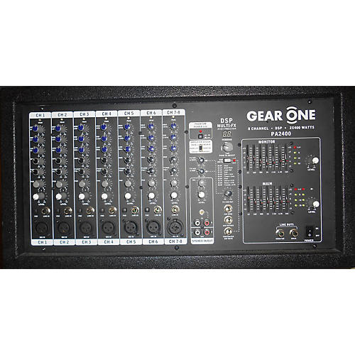 Gear One PA2400 Powered Mixer-thumbnail