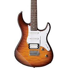 PAC212V Quilted Maple Top Electric Guitar Tobacco Brown Sunburst