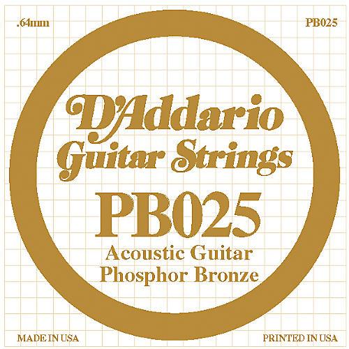 D'Addario PB025 Phosphor Bronze Single Acoustic Guitar String