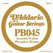 D'Addario PB045 Phosphor Bronze Single Acoustic String