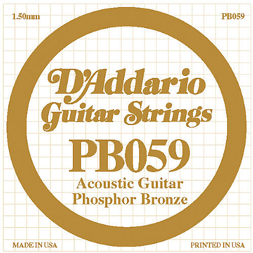 D'Addario PB059 Single Phosphor Bronze String-thumbnail