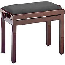 Musician's Gear PB39 Adjustable-Height Piano Bench Level 1 Black Velvet Top Mahogany Polished Finish