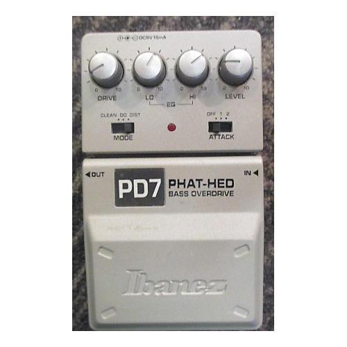 Ibanez PD7 Bass Overdrive Bass Effect Pedal